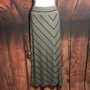 Women's Plus Size Knit Maxi Skirt Size x (14w)